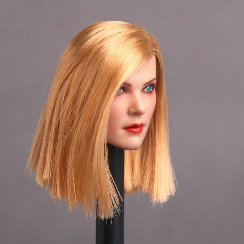 Collection 1/6 Female GC006 Blond Long Hair Head Sculpt For 12 PH Body Action Figures<br>