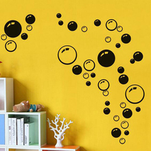 New Creative Bubbles Wall Art Bathroom Window Shower Tile Decoration Removable Decal Mural Kid Room Home Sticker