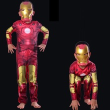 girls boy Iron Man Halloween Kids Superhero ironman Cosplay Carnival Costumes with mask Children Party Suit Disfraces Infantiles