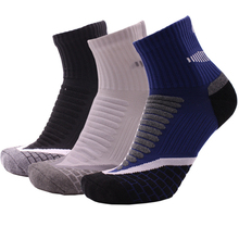 3 Pairs / Lot Cotton Sports Socks Slippers Men Absorb Sweat Deodorant Athletic Sox Basketball Cycling Running Socks