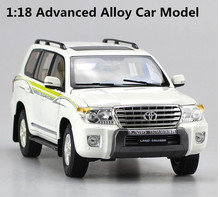 Original high simulation Toyota LC200 land cruiser, 1: 18 advanced alloy car model, high quality collection model, free shipping(China)