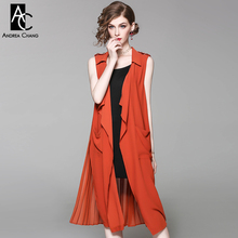 spring summer runway designer women trench pleated back turn down collar black orange trench epaulet open stitch fashion trench