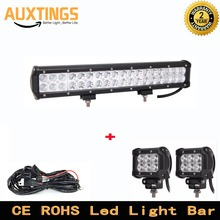 IP 67 waterproof 108W 18Inch Led Combo CREEs Light Bar Offroad SUV Truck 4x4 With 2pcs 4inch 18w spot led work light+ Wiring kit