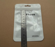10.5*15cm Plastic for samsung galaxy zipper retail package Poly PP bag,USB data cable packaging hang hole bags