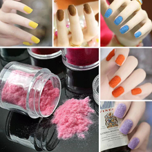 24 Colors 3D Candy Velvet Nail Glitter Nail Accessories Flocked Fuzzy Soft Manicure Villus nail art makeup Powder puff velour(China)