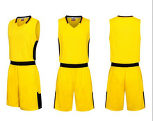 Wholesale yellow best quality basketball jersey cheap throwback basketball jerseys breathable 2017 LD8005(China)