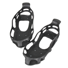 1 Pair Ice Snow Climbing Anti-slip Shoe Covers Spike Cleats 24 Teeth Crampons Non-Slip Skiing Skating Gripper Spikes Boots BHU2
