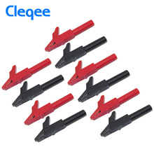 Cleqee P2007 10PCS Alligator Clip to 4mm Banana Female Jack Test Adapter