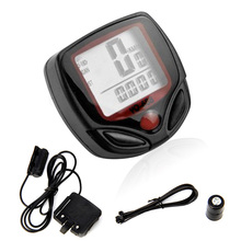 15 Function Waterproof LCD Bike Bicycle Odometer Speedometer Cycling Speed Meter