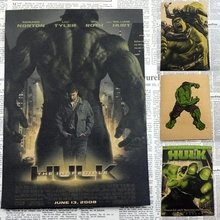 Marvel Comics Poster Avengers Movie Hulk Posters Waterproof Vintage Posters HD Print Picture Wall Sticker For Kids Room 30*21cm