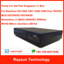 Send Immediately!!! Renew Yearly Blackbox C600 C601 C608 C808 c801hd 900SE 800SE C1 QBOX 4000hdc 5000hdc Singapore Cable TV Box(China)