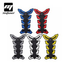 3D Rubber Tank Pad Protector Gas Fuel Decal Sticker For Motorcycle ATV Vehicles Blue/Red/Black/White/Yellow(China)