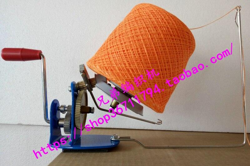 Cuerda Manual Rollo de Cuerda Fibra de Lana Soporte de bobinado r/ápido Herramientas para Hacer Punto con Mango de Metal y Accesorios de m/áquina de Coser con Abrazadera de Enrollador de Bolas de Hilo