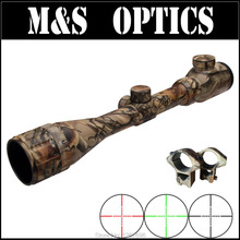 3-9X50AOEG Camouflage Red Green Dot Airgun Riflescope Air Rifle Scopes OPTICAL SIGH Sniper Rifles with 11mm Rail Rings Mount