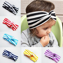 1pc cute  Headband Zebra stripes Bow Headband Top Knot Polka Dot Cross Knot  Turban Tie Knot Headwrap Hair Accessories
