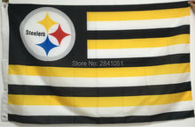 Pittsburgh Steelers USA Star and Stripes Team American Outdoor Indoor Hockey Football Flag 3X5 Custom USA Any Team Flag