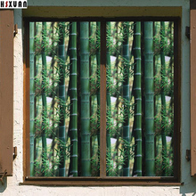 bamboo printed decorative window Privacy film 50x100cm removable self adhesive glass No glue electrostatic window sticker 502101