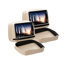 "2x9"" Touch Screen Headrest Car DVD Car Headrest DVD Headrest Car Monitor DVD with Anti-theft Detachable Flat Cover Design(China)"