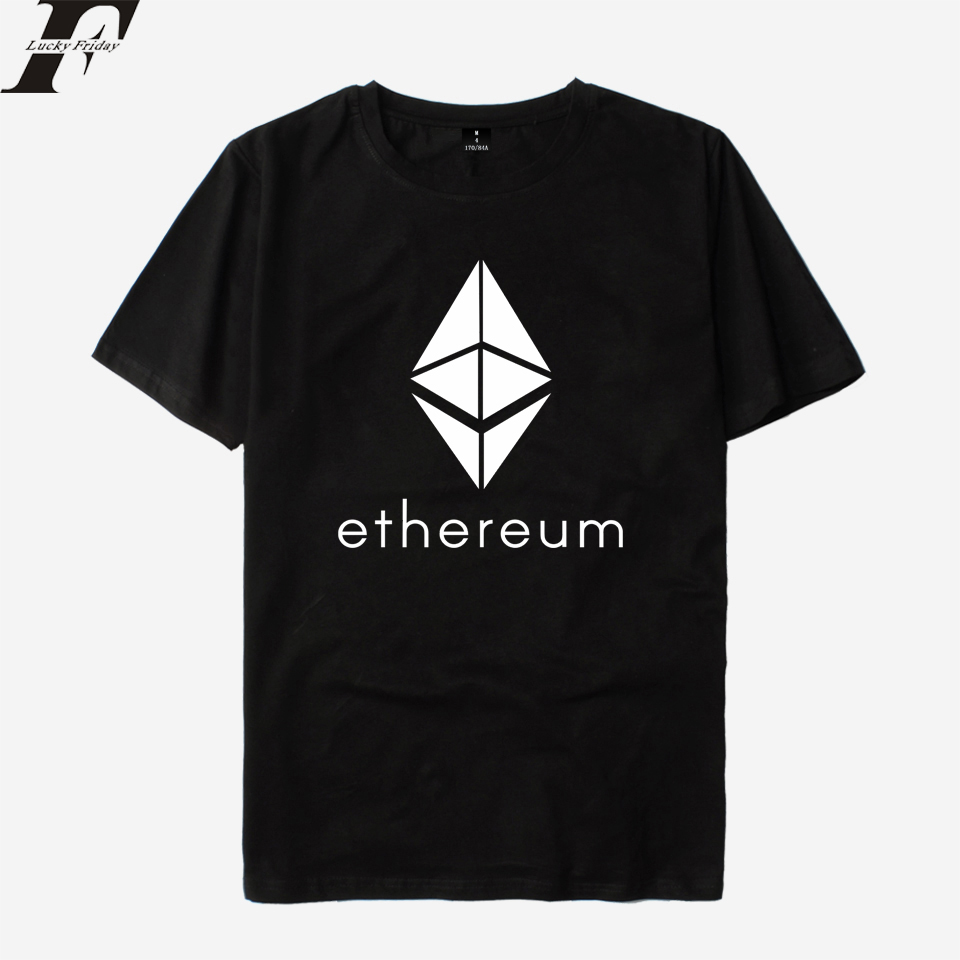 LUCKYFRIDAYF 2018 Ethereum T shirt Men/Women Cotton T-shirts Women Summer Short Sleeve Kpop T-shirt Men Funny Casual Top Tees