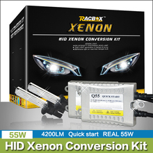 Fast Start HID Bulb Xenon Conversion Kit Car Xenon Headlight H1 H3 H7 H4 H11 9005 HB3 9006 HB4 6000K 4300K 8000K 55W Ballast 12V