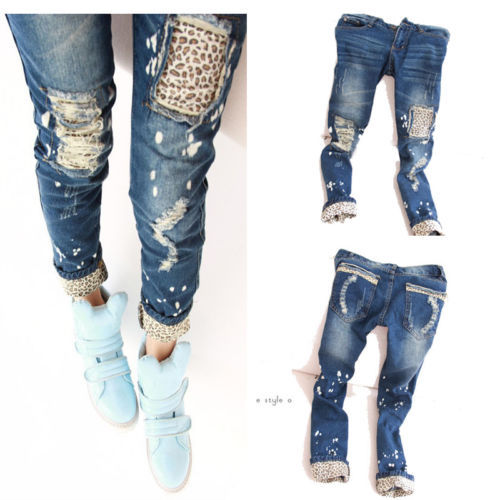 Details about New Fashion Women Ladies Casual Leopard Slim Pencil Jeans Pants Trousers SkinnyОдежда и ак�е��уары<br><br><br>Aliexpress