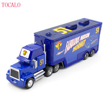 21cm Pixar Cars No.51 Mack Truck & Fabulous Hudson Hornet Metal Toy Car For Children 1:55 Loose Brand New In Stock With Opp Bag(China)