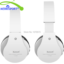 MERRISPORT Stereo Foldable Headphones, Over-ear Wireless Wired Headset for Smartphones/ Mp3/4 Players/ Laptops/ Computers White(China)