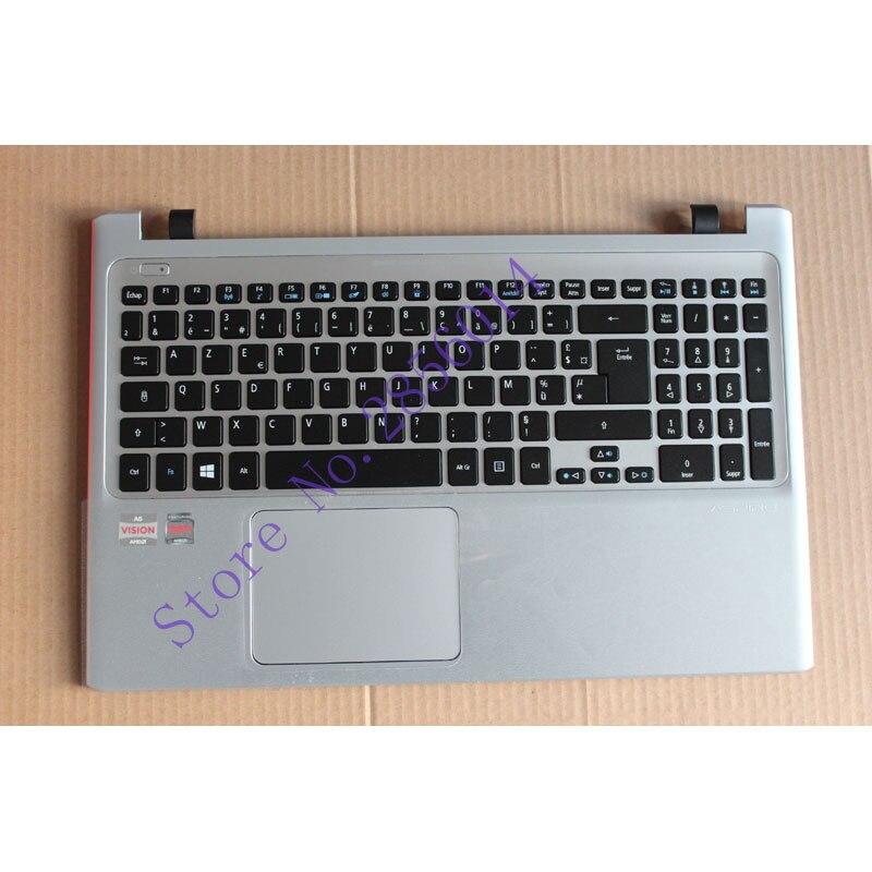 French Laptop keyboard For ACER Aspire v5-551 V5-531G V5-531P V5-551G Backlight with touchpad Palmrest Cover FR <br>