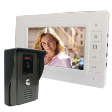 "7"" Color Video Door Phone Video Intercom Door Intercom Doorbell Kit unlock Door phone with IR Night Vision Camera for Apartment"