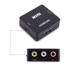 Digital HDMI to RCA Composite Video Audio AV CVBS Adapter Converter 720p/1080p(China)
