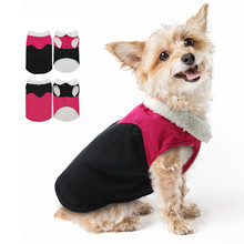 New Cotton Dog Coat Autumn/winter Warm Waterproof Jacket for Small and Medium Pet Dog Clothes Pet Supplies(rose Red,black)(China)