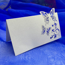 10Pcs/pack wedding cards place cards wedding name  laser cutting invitation card Wedding Decoration party Supplies invitations
