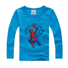 2017 Autumn Kids Tees Children Baby Boy Girl Clothes T Shirt Toddler Boy Long Sleeve Tops Spiderman Girls T Shirts 8 10 13 Years(China)