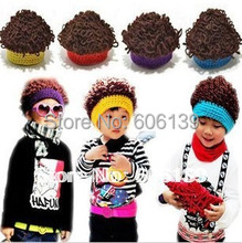 fashion punk rock Wig kid cap knitted korean style children baby boys hat free shipping