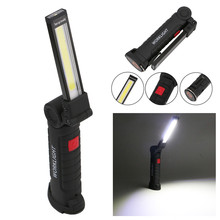 Foldable work Light flashlight Rechargeable Magnetic Inspection Lamp Flashlight Torch Built in Battery USB Charging Port(China)