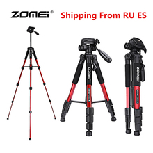 2017 Zomei Q111 Professional 56 inch Lightweight Anniversary Camera Video Aluminum Tripod with Bag For Canon Nikon DSLR Camera(China)