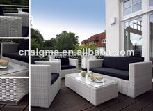 Comfortable outdoor patio furniture rattan cheap living room white sofa(China)