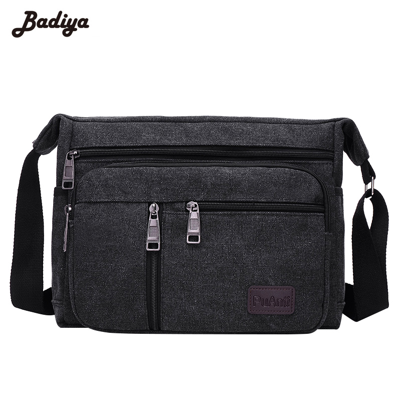 Mens Casual Handbags Canvas High Quality Clutch Solid Phone Purse Crossbody School Bag Flap Sac A Main Simple Male Bags Travel <br>