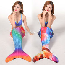 Myle Factory Unique Design Best Christmas Gift For Mother Adult Mermaid Tail W Monofin Dress For Mermaid Tail Halloween Costume(China)