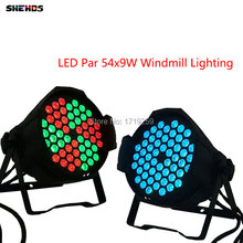 NEW 2017 Sale LED Par Can 54x9W RGB 3IN1 DJ Par 6/10 DMX Channels For Party KTV Disco Aluminum Alloy Led Windmill Lighting
