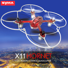 Original SYMA X11 Quadcopter RC Dron 2.4G 4CH 6 Axis Gyro Mini Drone Remote Control Helicopter with Flash Lights Flying 5-8mins(China)
