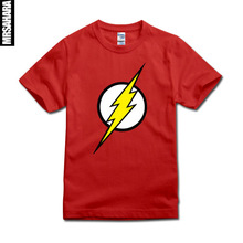 SexeMara THE FLASH TBBT Big Bang Theory Sheldon Cooper Superhero T Shirt 5 Colours SIZE XS,S,M,L,XL,XXL(China)