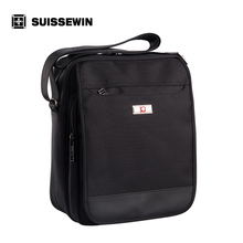 Suissewin Men's Business Casual Shoulder Bag Male Small Crossbody Messenger Bag Swissgear Black Tablet Bag bags female SW9006