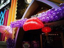 Popular wedding/Valentines Day/club decoration inflatable red lip for sale