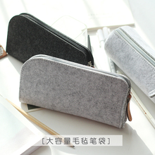Minimalism Felt Pencil Bag Fabric Pencil Case Stationery Pouch Purse Storage Bag School Supplies Office Supplies Pencil Boxs(China)