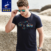 TACE&SHARK t-shirt men's 2017 launching summer short-sleeve comfortable fashion printed pattern slim high quality free shipping