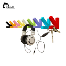 FHEAL Creative Colorful Wall Mounted Painting Wood Arrow Hook Hanger Hat Coat Door Clothes Rack Hooks Fashion Home Decorate