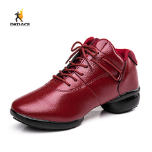 New Trend Men's Women's Sparkling Glitter Ballroom Latin Modern Dance Sneakers Cow leather Shoes Black Redwine