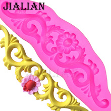 Flower lace wedding cake decorating tools fondant baking cooking mould silicone mold chocolate sugar art displays T0024
