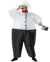 inflatable chef kitchener Cook suit restaurant costume Halloween chef inflatable Costume Cloth